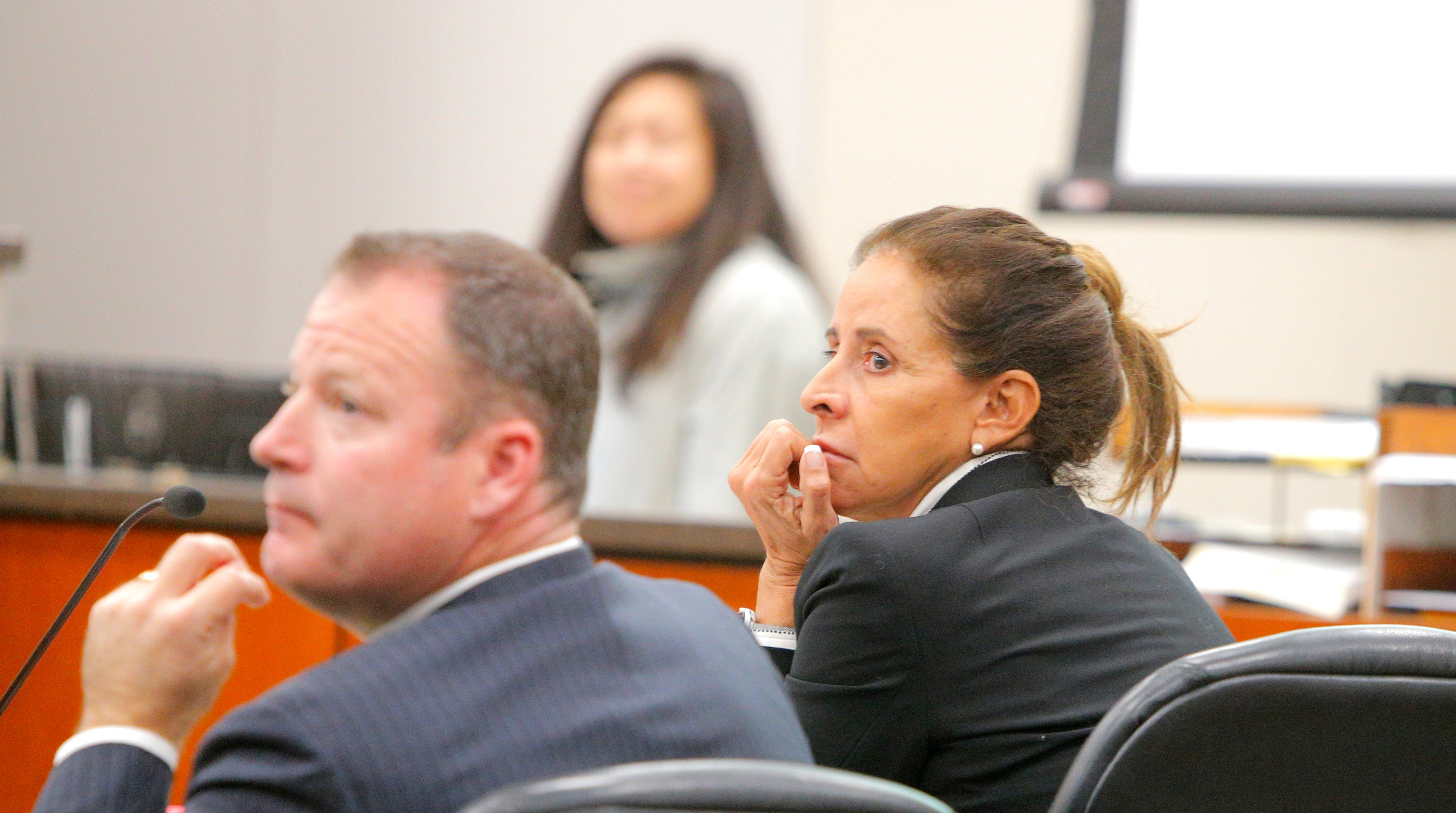 Lolita Garcia appears at her preliminary hearing Tuesday on allegations she defrauded Monterey County Schools using her nonprofit for students with special needs.