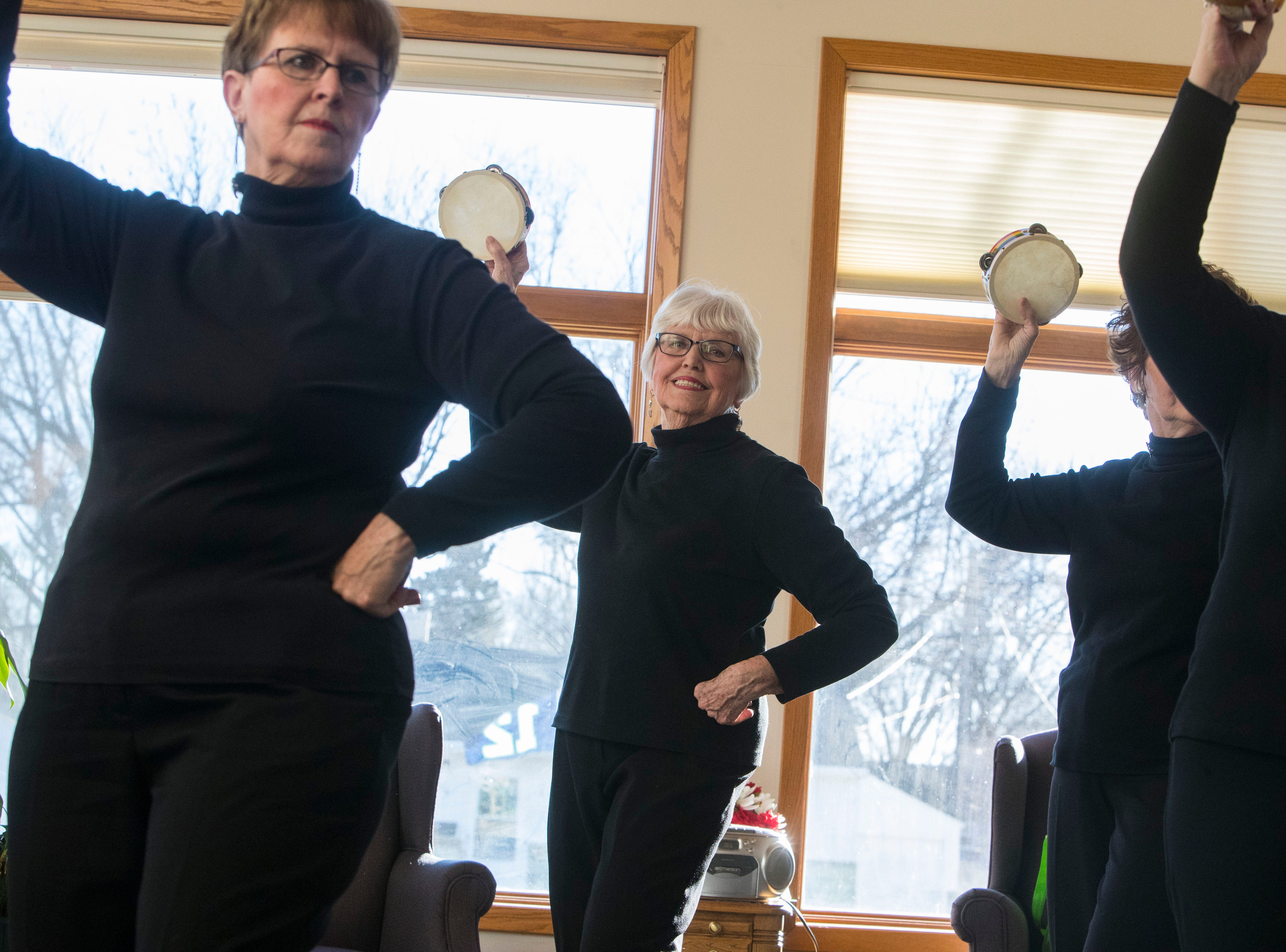 The Dancing Divas practice before the show at Good Samaritan Society-Luther Manor in Sioux Falls, S.D., Friday, Dec. 14, 2018.