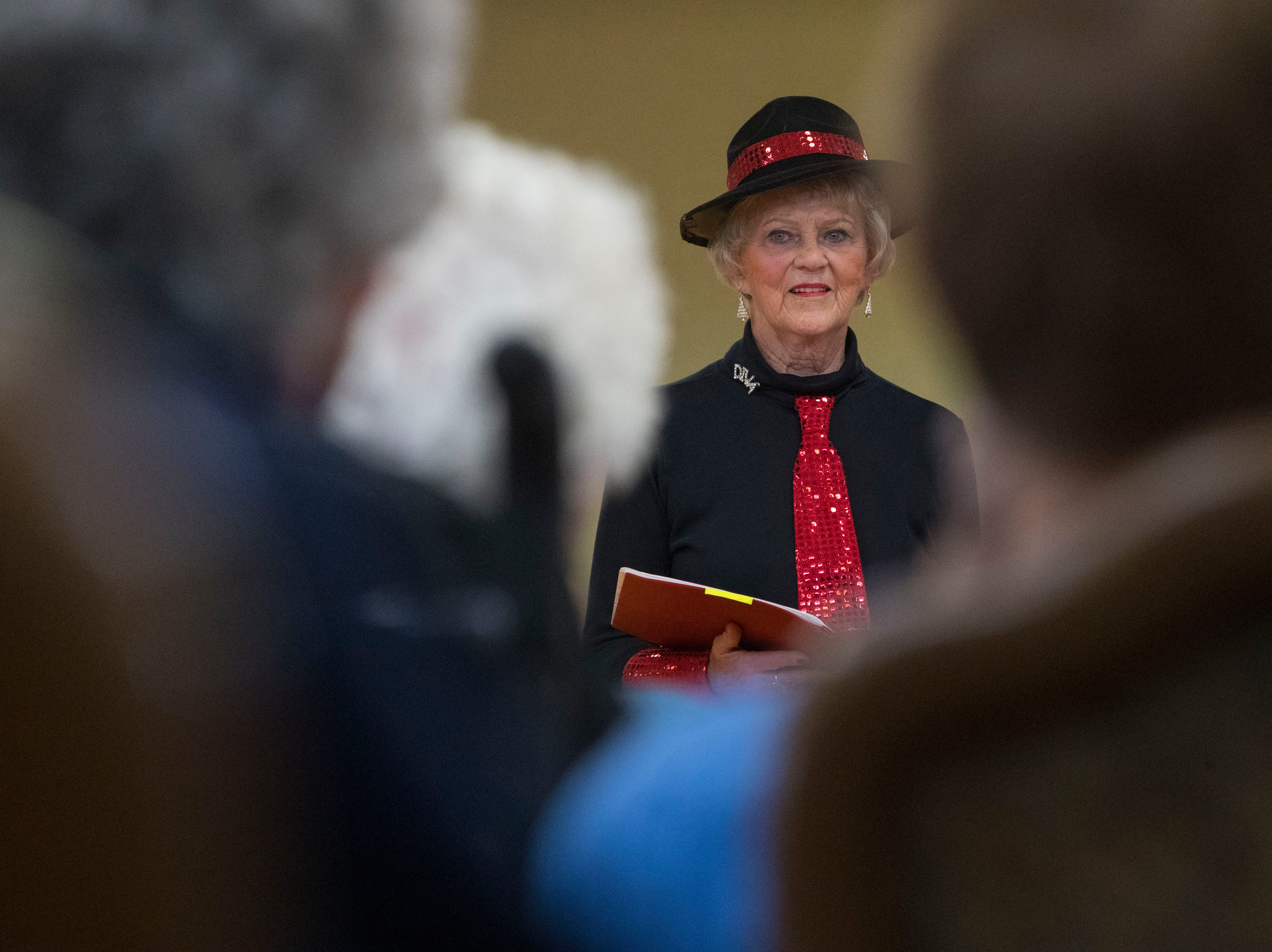 Joan Hall performs at Good Samaritan Society-Luther Manor in Sioux Falls, S.D., Friday, Dec. 14, 2018.