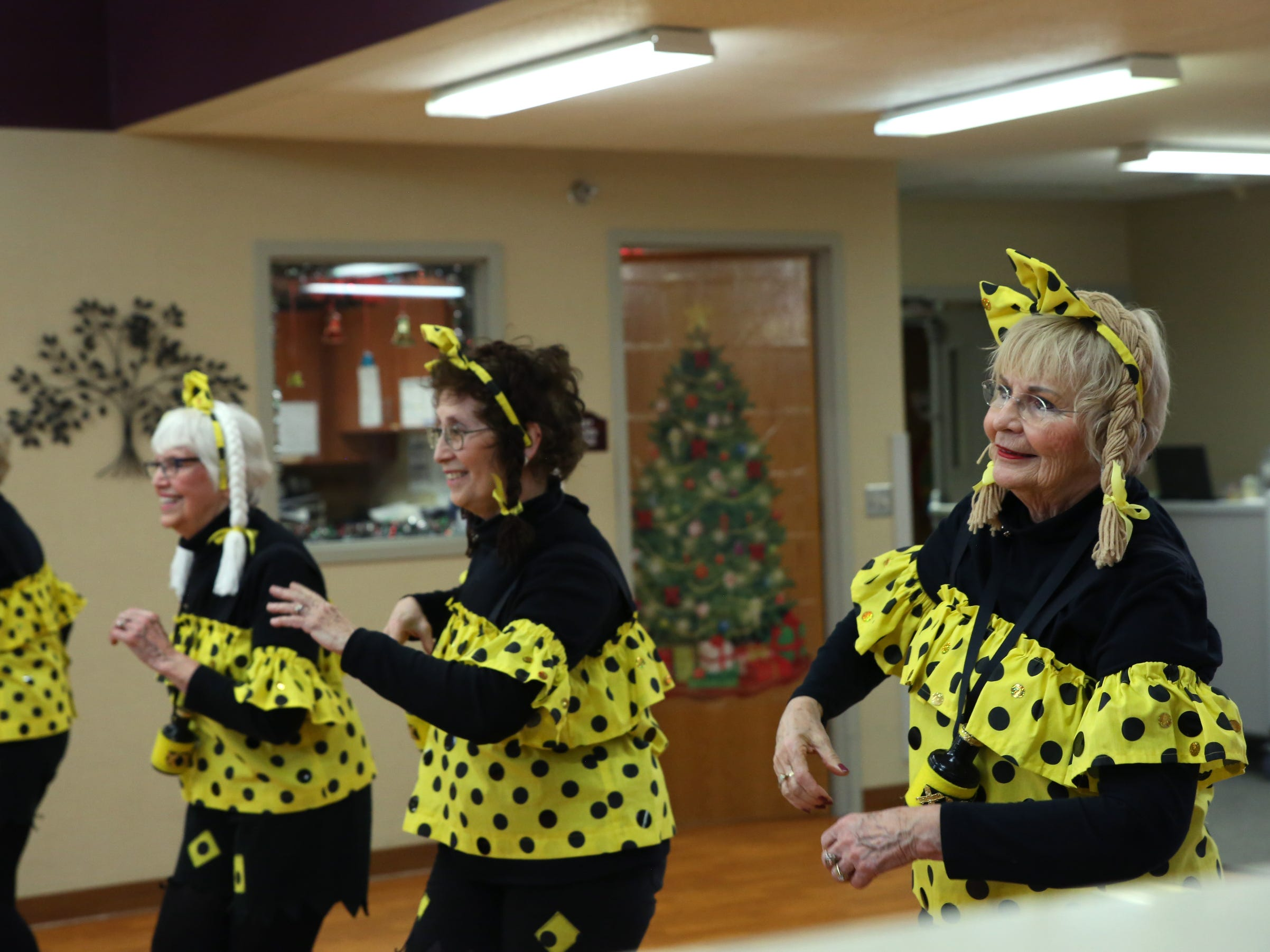 The Dancing Divas group performs at Good Samaritan Society-Luther Manor in Sioux Falls, S.D., Friday, Dec. 14, 2018.