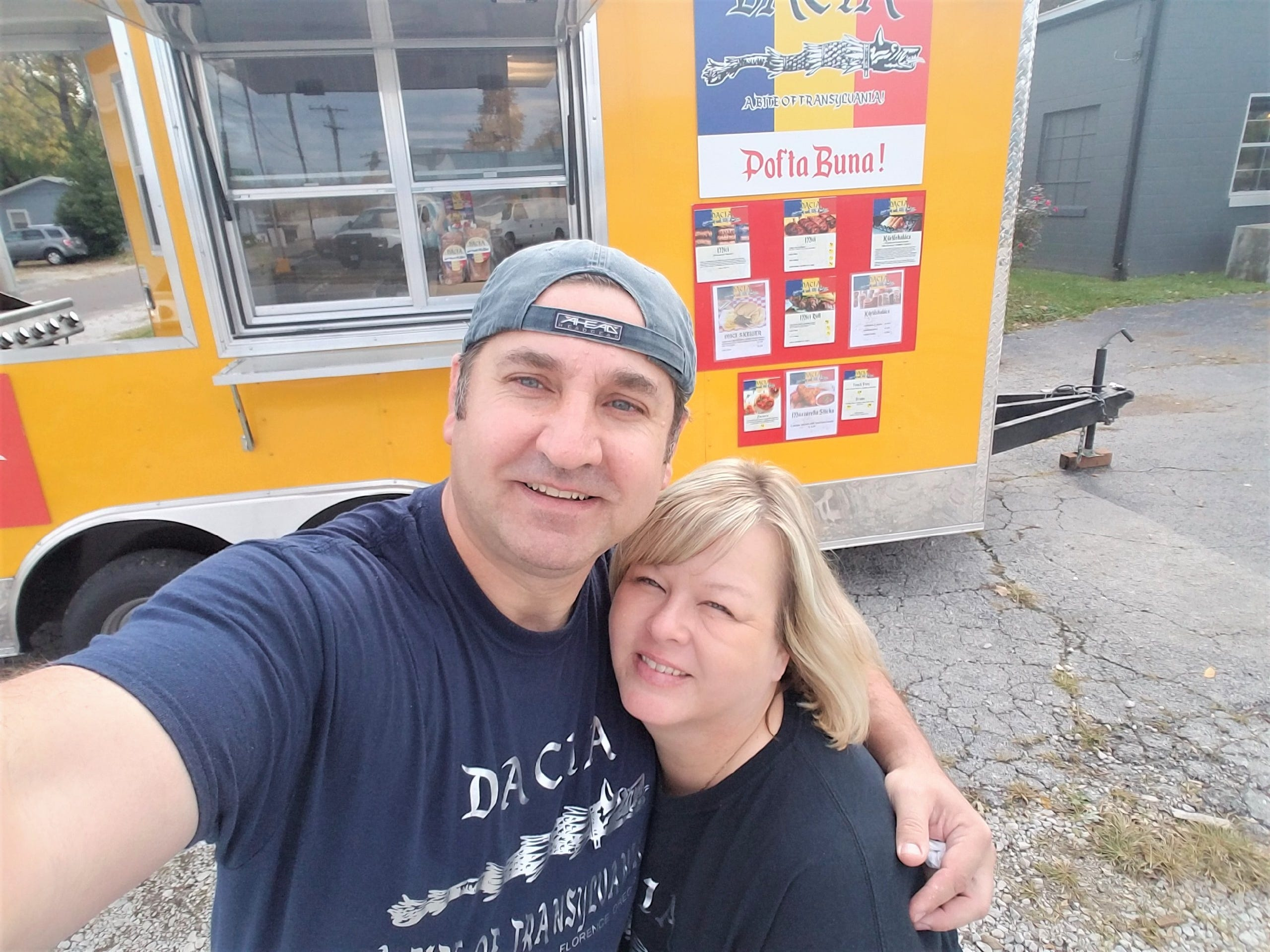 Romulus and Hannelore Manole opened a Romanian food truck named Dacia in August.