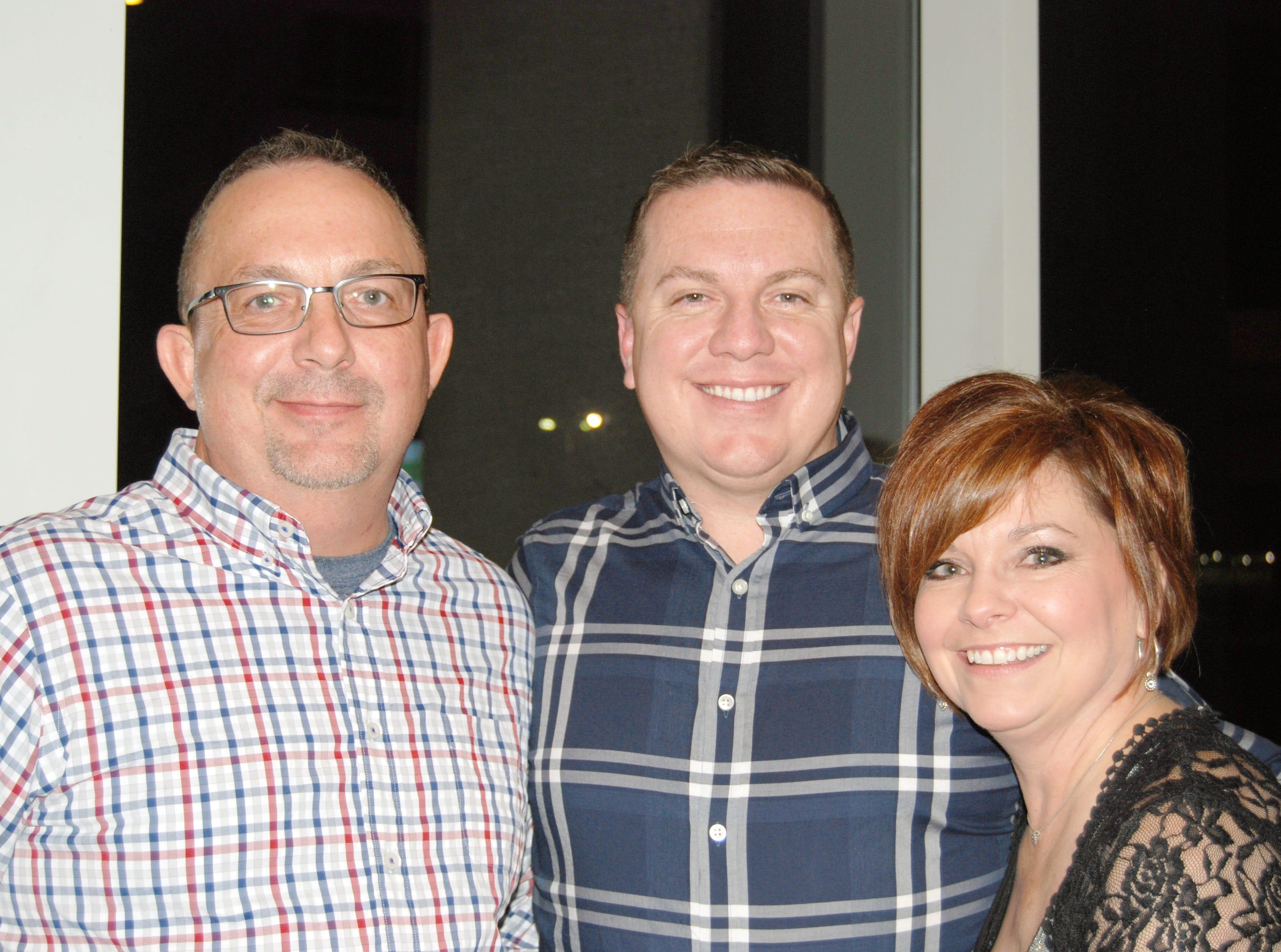 Travis Weatherman, Leonard Clinton and Cheryl Stone