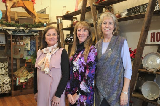 Footbridge Trading Company owners Karen Schaefer, from left, Irene Schaefer and Marty Corcoran.