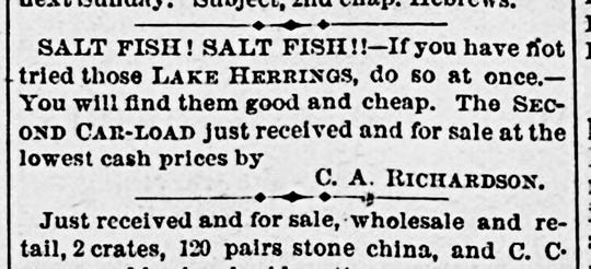 An ad from the Staunton Spectator, Volume 54, Number 28, 3 April 1877.