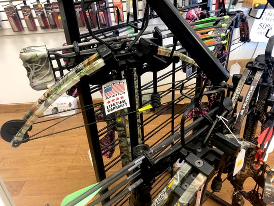 Parker Bows, a wholesale distributor of compound bows and crossbows is headquartered out of Greenville. The company announced it would be closing after 34 years in business. Here are crossbows at Nuckols Gun Works in Staunton.
