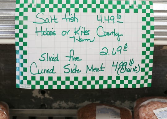 The Meating Place has been selling salt fish to customers for decades at its location just south of Staunton.