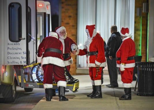 St. Cloud Santa at Christmas