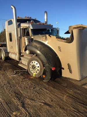 The 2000 Kenworth semi-trailer combination involved in a fatal crash Monday morning, according to a media release from the Stearns County Sheriff's Office.