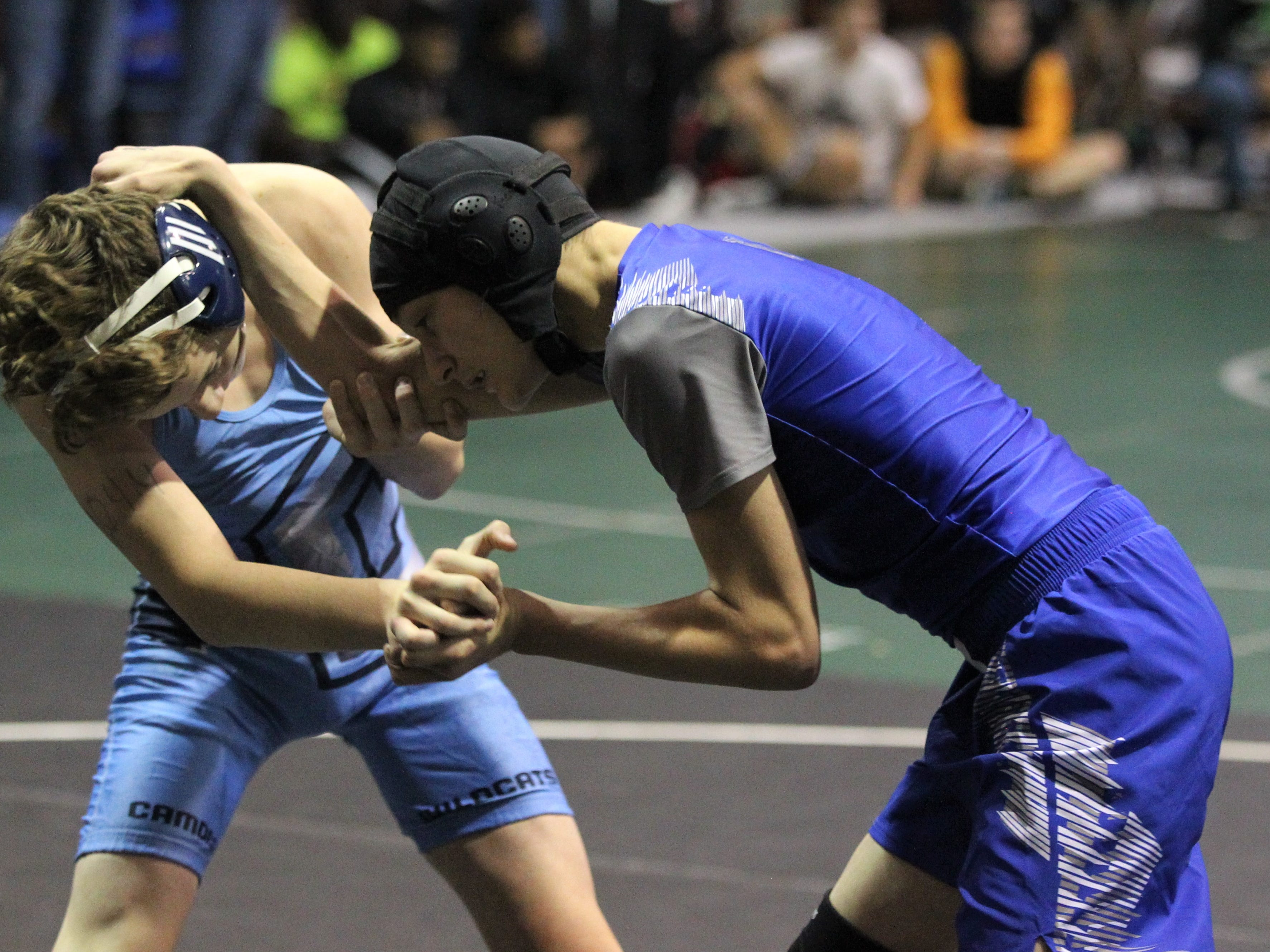 Godby's Jeremy Hector wrestles at 106 pounds during the 2018 Capital City Classic wrestling tournament at Chiles High School.