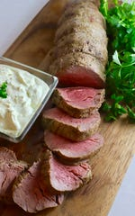 Gorgonzola sauce for beef tenderloin can be made two days in advance.