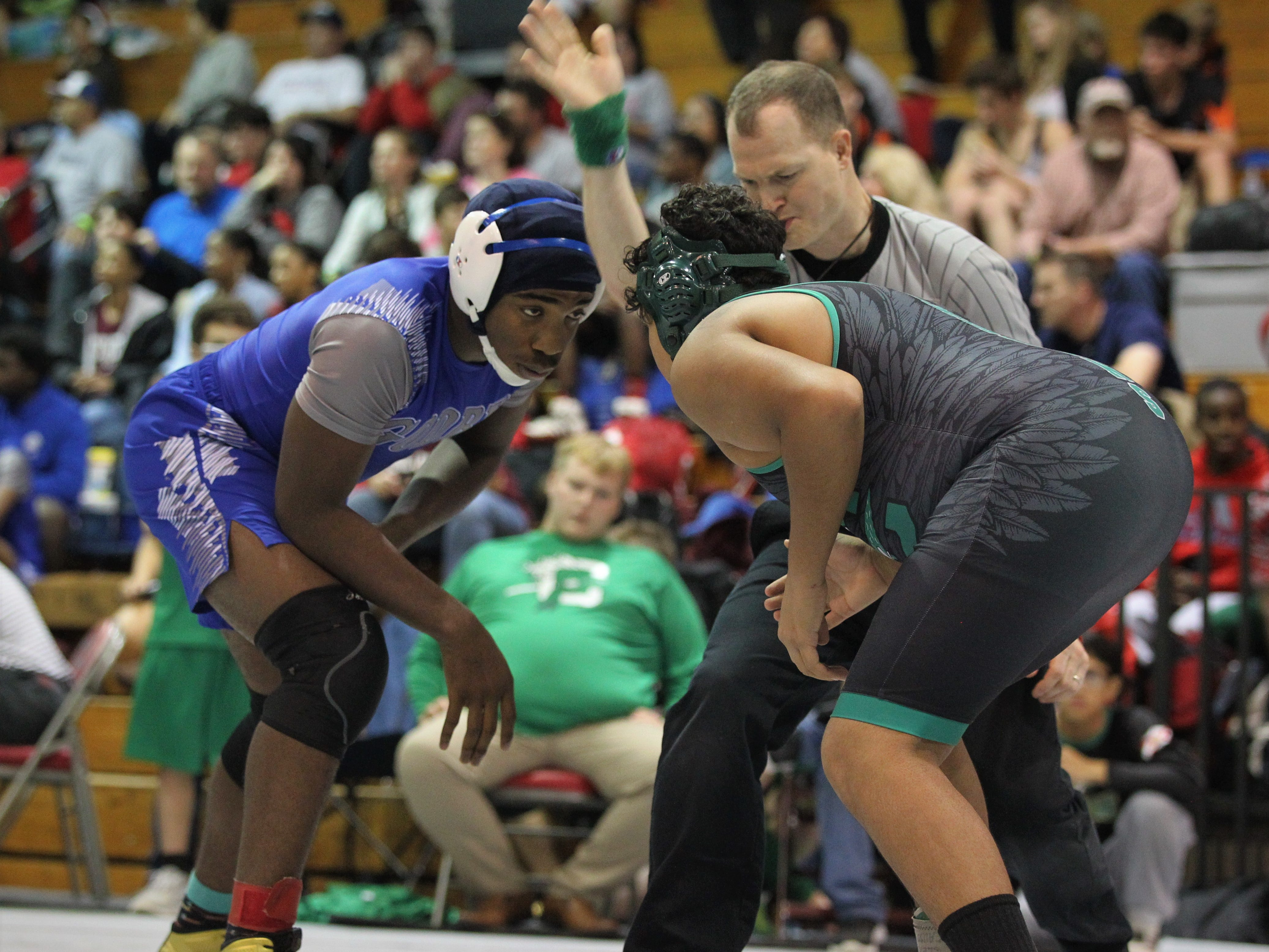Godby's Julian Green prepares to wrestle at the 2018 Capital City Classic wrestling tournament at Chiles High School.