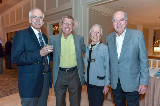 Herb Lichtenberger, left, with Bob and Jan Crandall and Bill Lichtenberger at the 2018 Pinot & Picasso event at  Harbour Ridge Yacht & Country Club.