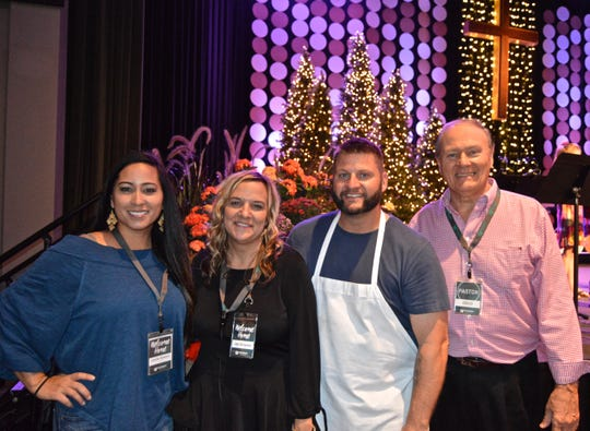 Jennifer Bickford, left, Jennifer and Brent Graves and Pastor Doug Vogt planned the 2018 Community Thanksgiving Dinner at Pathway Church in Vero Beach.