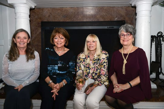 "Casey Ruhr, left, Elena Kucharik, Carla Hunter and Rosalie Shanks at the Orchid Island Beach Club for ""An Intimate Evening of Beautiful Piano Music with Alon Goldstein."""
