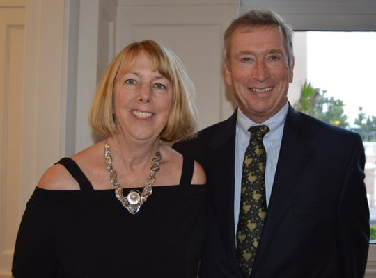 Gretchen and Nelson Cover attend a special dinner at Grand Harbor Beach Club to kick off Vero Beach Opera's 30th season.