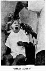 'Shear Agony' photo taken by Mike Stone in 1960.