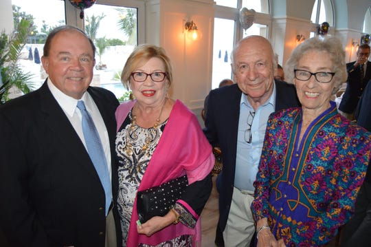 Mike and Joanna Charecky, left, with Hans and Joan Wolf at the Grand Harbor Beach Club to kick off Vero Beach Opera's 30th season.