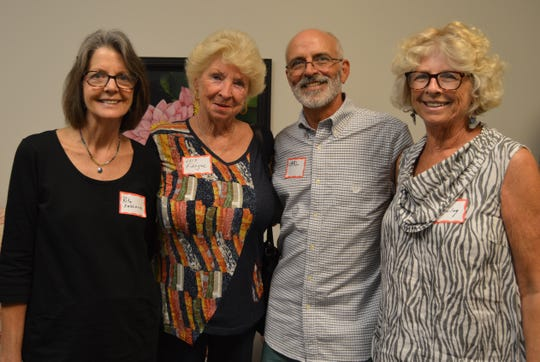 Rita Faillace, left, Lois Fidinger, Carl Cerreto and Shirley Cerreto at Friendship House, the new home forFriends After Diagnosis, the women's cancer support organization.