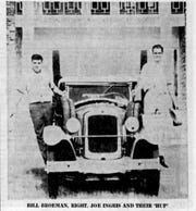Hupmobile with Bill Broeman and Joe Ingris in 1961.