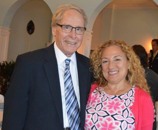 Louis Lawson and Tiziana Lahey at a special dinner at Grand Harbor Beach Club to kick off Vero Beach Opera's 30th season.