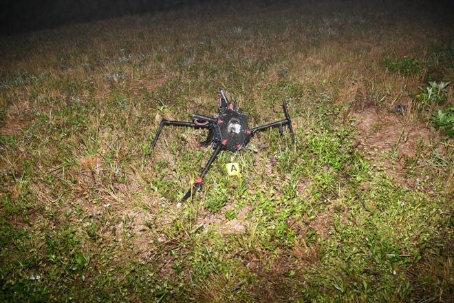 The drone two women used to drop off an item at a prison in Martin County.