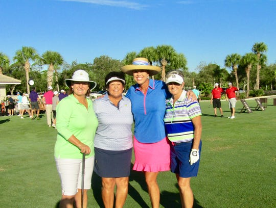 Val Skinner, left, Nancy Lopez, Michelle McGann and Laurie Rinker at the 2018 Swinging Fore the ARC Golf Tournament at Piper's Landing Yacht and Country Club in Palm City.