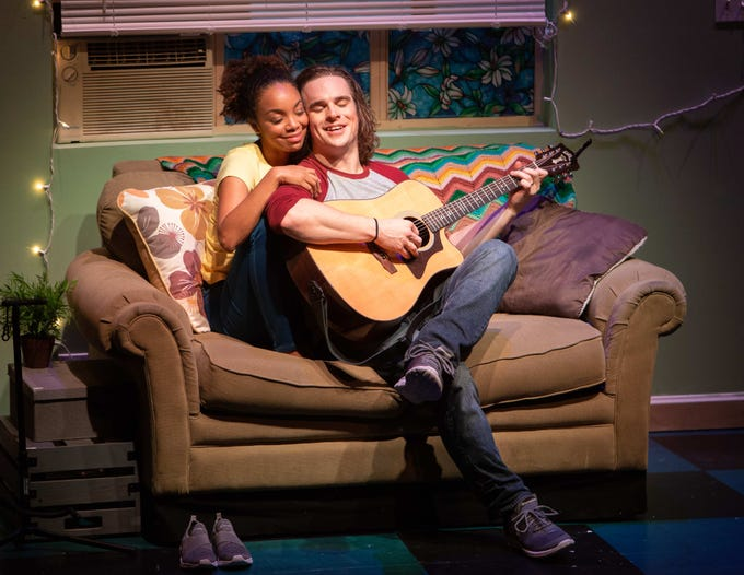 """Keiana Richàrd and Stephen Michael Spencer perform in the Ensemble Theatre Company's production of """"The Legend of Georgia McBride"""" directed by Jenny Sullivan and playing at the New Vic Theater in Santa Barbara."""