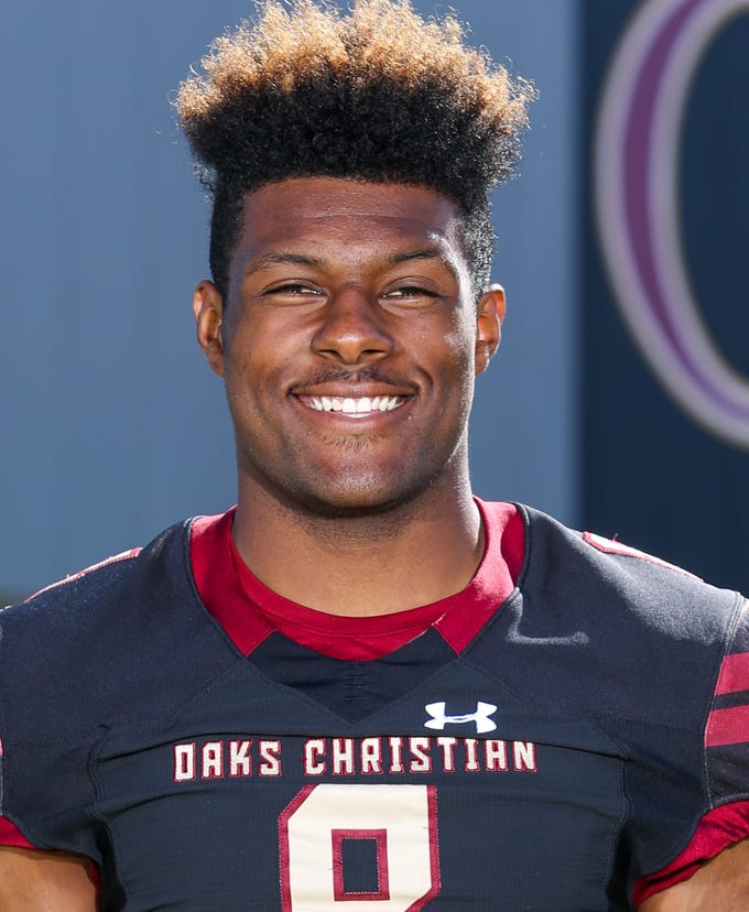 KAYVON THIBODEAUX, Oaks Christian, Defensive Line: The 6-foot-5, 230-pound defensive end completed a dominant two-year run as a Lion by leading the area with 18 sacks. The Marmonte League co-Player of the Year and Ventura County Coaches' co-Lineman of the Year also had 54 tackles, 19 tackles for a loss and two blocked field goals. He was The Star's Defensive Player of the Year as a junior, when he had 20 sacks and 28 tackles for a loss. USA Today's No. 1 recruit, Thibodeaux made national news on Dec. 15 by picking Oregon over Alabama, Florida and Florida State. He is the Ducks' first five-star recruit since 2015.