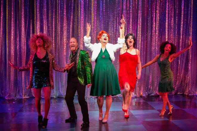 """Cast members perform in the Ensemble Theatre Company's production of """"The Legend of Georgia McBride"""" directed by Jenny Sullivan and playing at the New Vic Theater in Santa Barbara."""