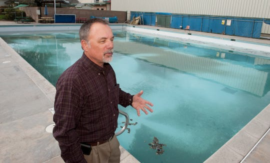 In this archive photo, Rob Hunt talks about the Tulare community pool. He was appointed as Tulare interim city manager last week. Council is expected to approve an agreement with him.