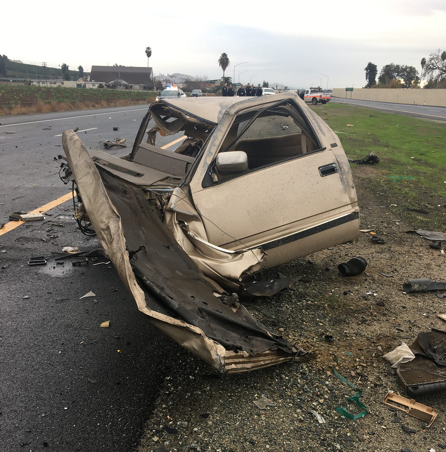 Tulare County 'reign of terror' ends in fiery crash outside Porterville, suspect dead