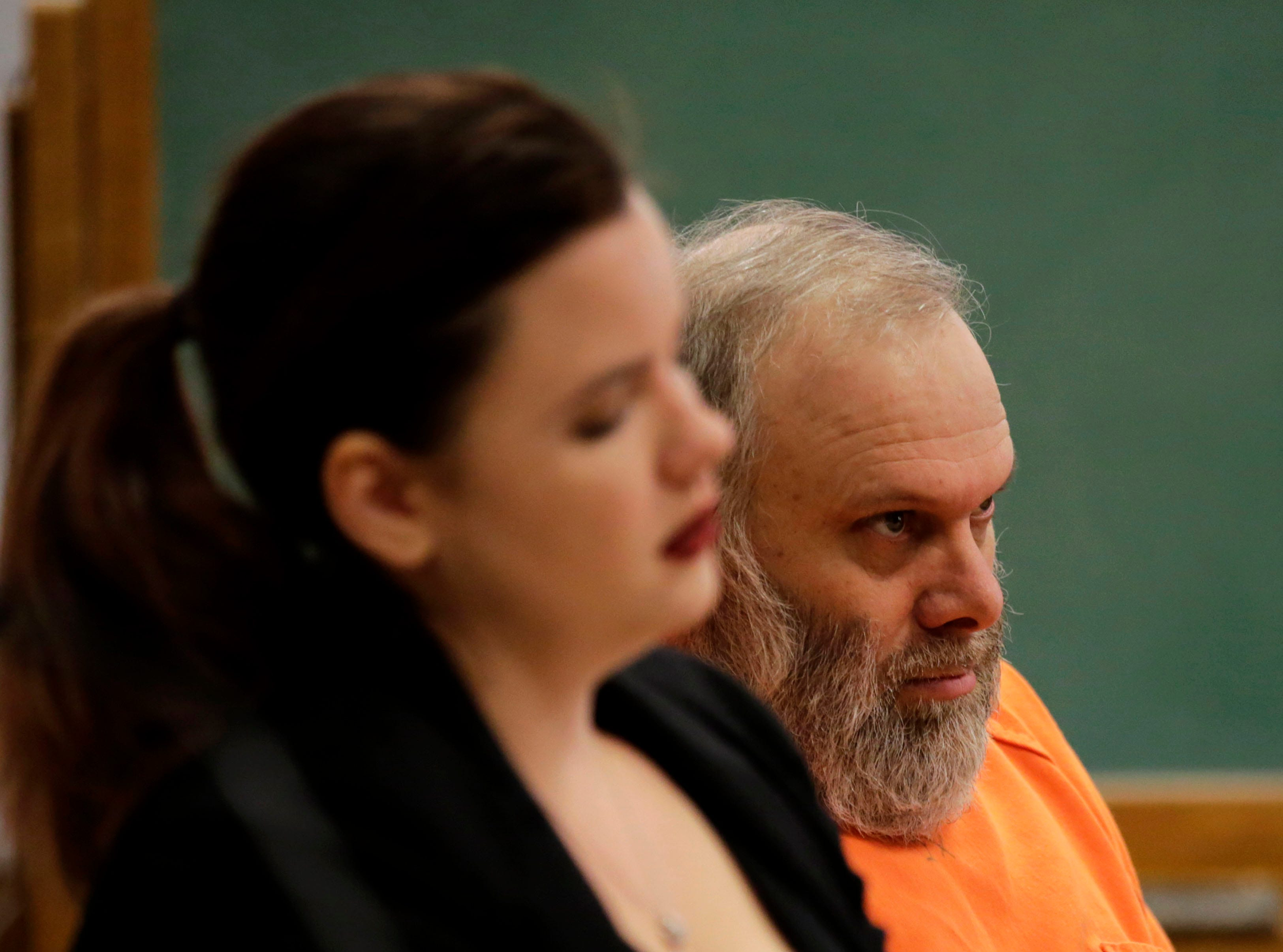 Gary Bohman sits at the defense table during a sentencing hearing on Tuesday, December 18, 2018, at the Wood County courthouse in Wisconsin Rapids, Wis. Bohman was sentenced to life in prison with no possibility of parole for the murder of Christopher Race.Tork Mason/USA TODAY NETWORK-Wisconsin