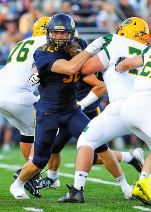 Sam Romanski, a 2015 Wausau East graduate, led the Wisconsin Intercollegiate Athletic Conference in sacks and tackles for loss this season for the University of Wisconsin-Eau Claire football team.