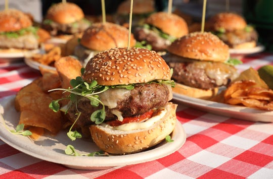 MARK VERGARI: Dry Aged Burger from Southern Table Bar & Kitchen, during Westchester Magazine's Burger & Beer Blast at Kensico Dam Plaza in Valhalla, June 7, 2018.