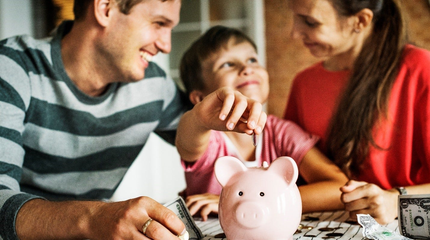 Regularly putting away money for various savings — big and small — is a good habit to practice.