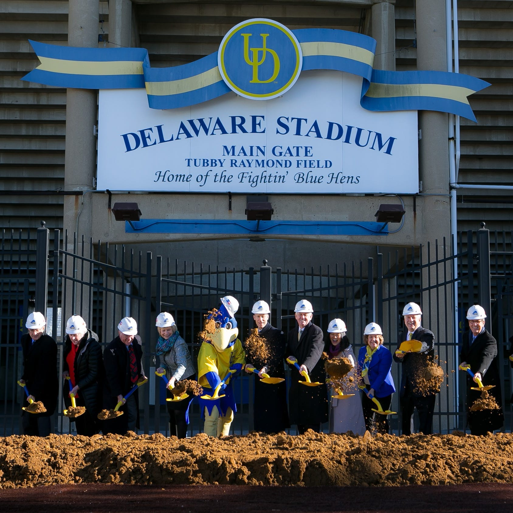Impact of athletics inspired Whitney gift as Delaware Stadium construction starts