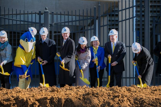 The University of Delaware celebrates the start of the $60 million renovation of Delaware Stadium and the creation of the Whitney Athletic Center with a groundbreaking ceremony.