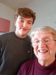 Grandson Ethan with Grandma Susan.
