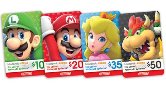 Nintendo eShop gift cards (Photo: Nintendo)