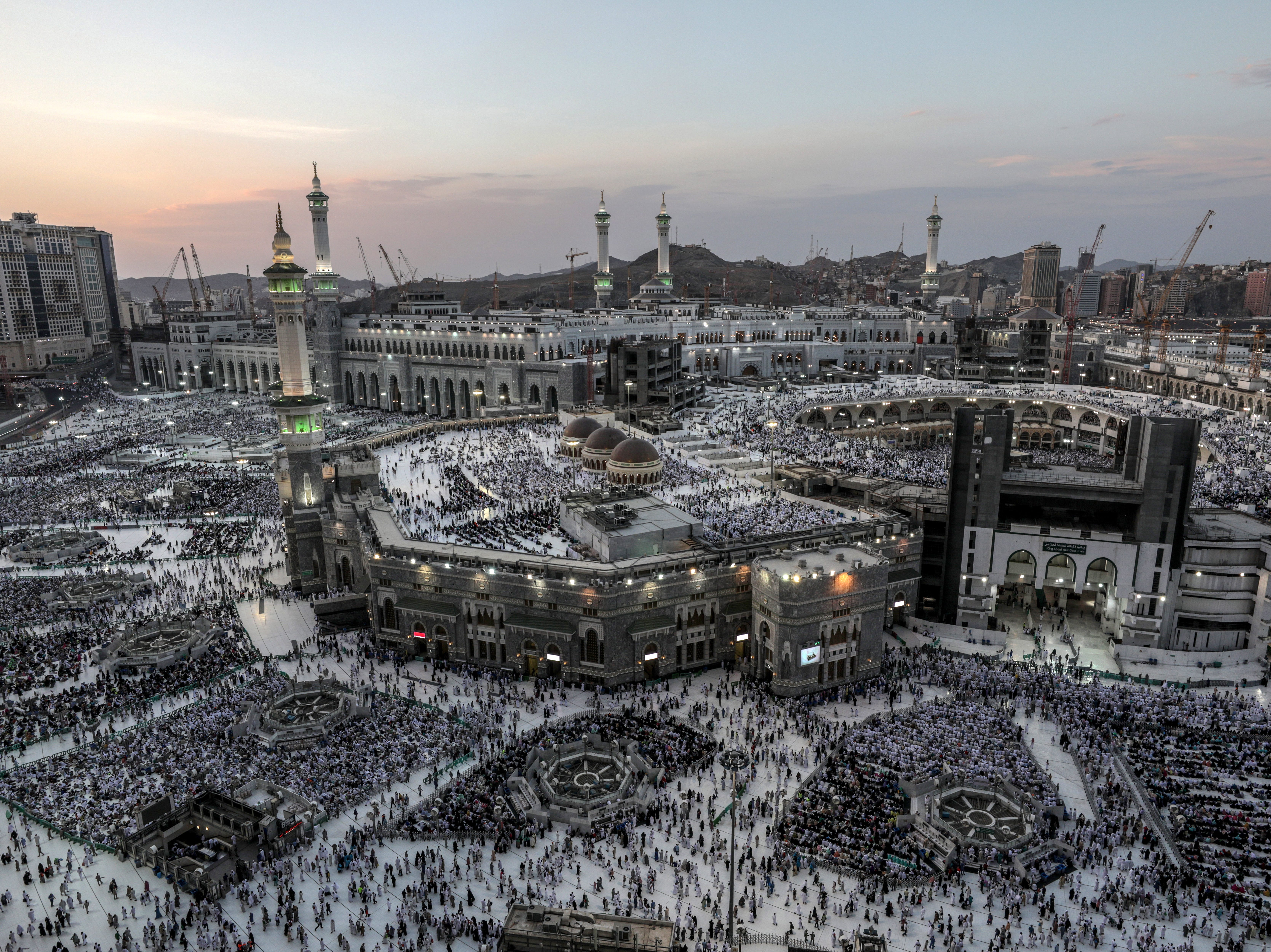 Aug. 18, 2018: Muslim pilgrims pray around the holy Kaaba at the Grand Mosque in Mecca, Saudi Arabia. Around 2.5 million Muslims are expected to attend this year's Hajj pilgrimage, which is highlighted by the Day of Arafah, one day prior to Eid al-Adha. Eid al-Adha is the holiest of the two Muslims holidays celebrated each year, it marks the yearly Muslim pilgrimage (Hajj) to visit Mecca, the holiest place in Islam.