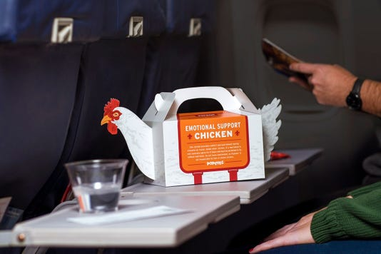 Popeyes Emotional Support Chicken