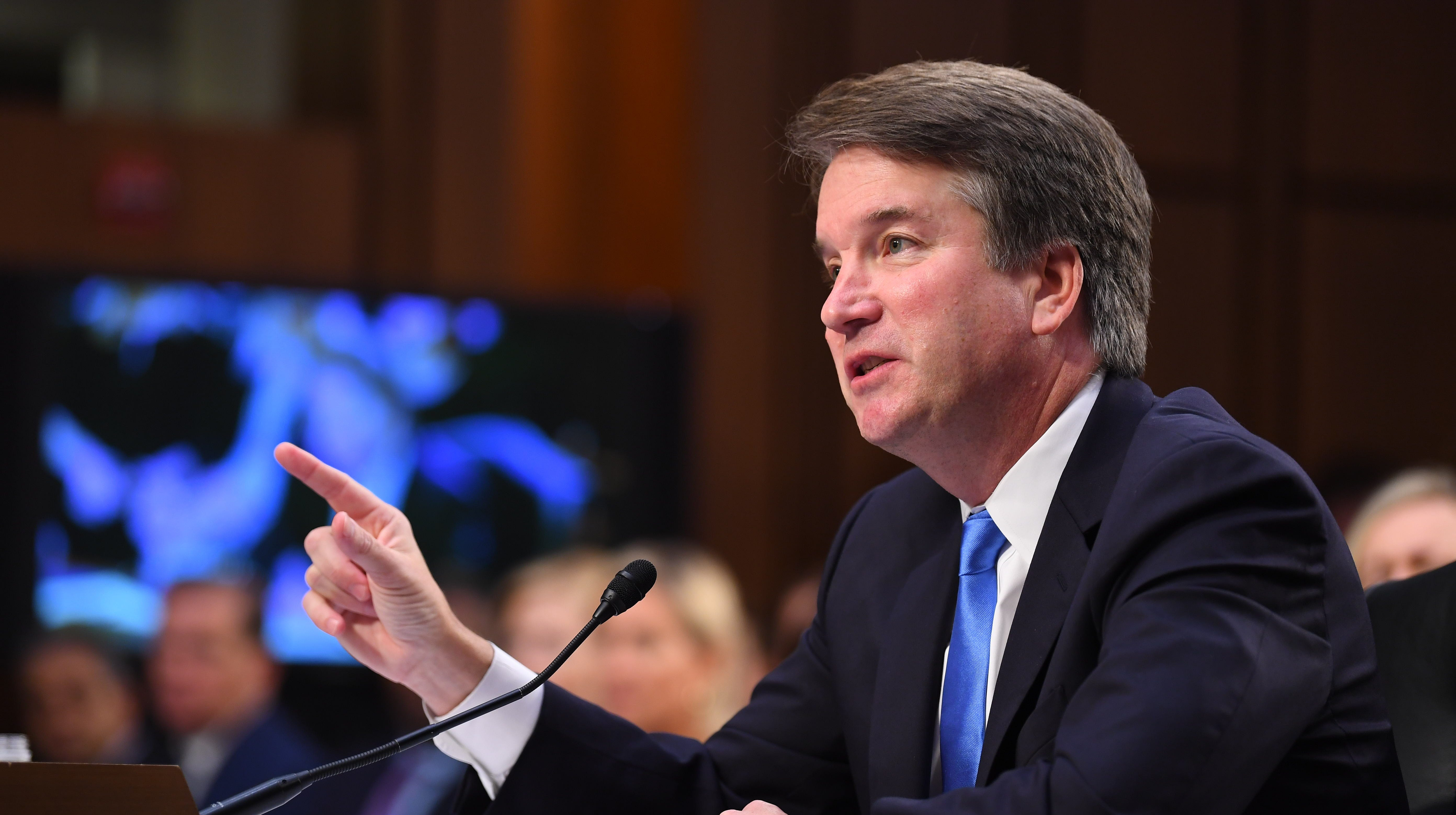 Supreme Court Associate Justice nominee Brett Kavanaugh appears before the Senate Judiciary Committee during his confirmation hearing on Sept. 5, 2018.
