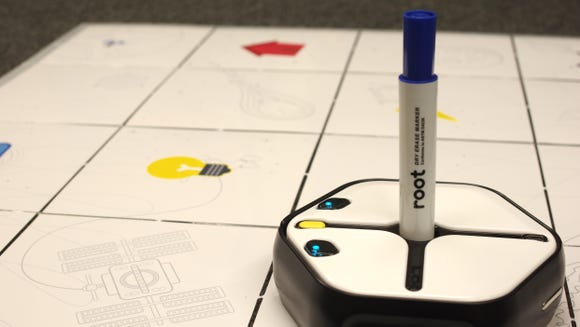 Root Robotics can draw on and explore the included white board mat.