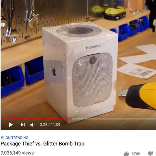 Man plants glitter bomb 'Amazon' package to catch thief, and it's epic