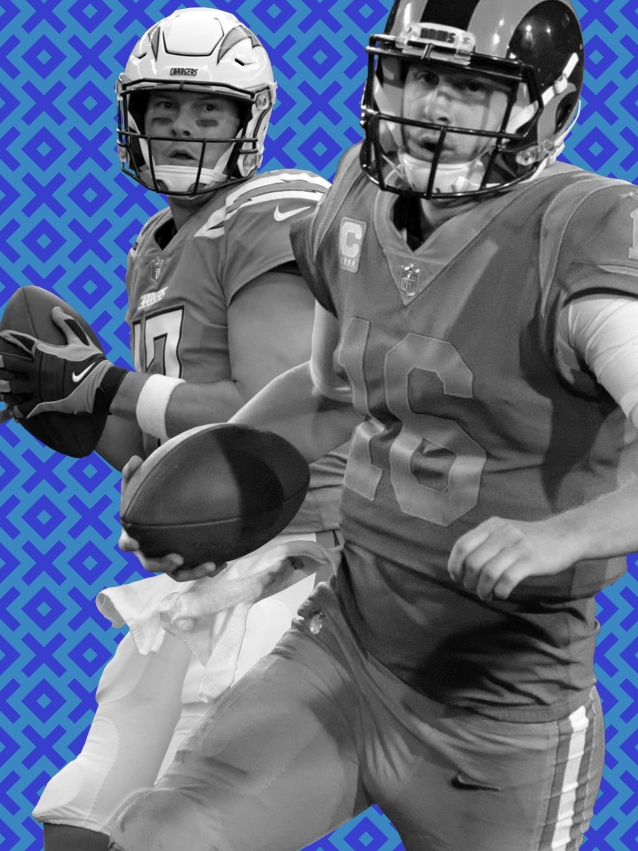 Philip Rivers' Chargers and Jared Goff's (16) Rams are headed in different directions.