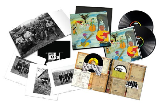 """The Band – Music from Big Pink 50th Anniversary Super Deluxe edition includes a Blu-ray Disc with high-resolution stereo and 5.1 surround versions of the 1968 classic and six bonus tracks. There's also CDs, vinyl LPs and a reproduction of """"The Weight"""" / """"I Shall Be Released"""" single"""