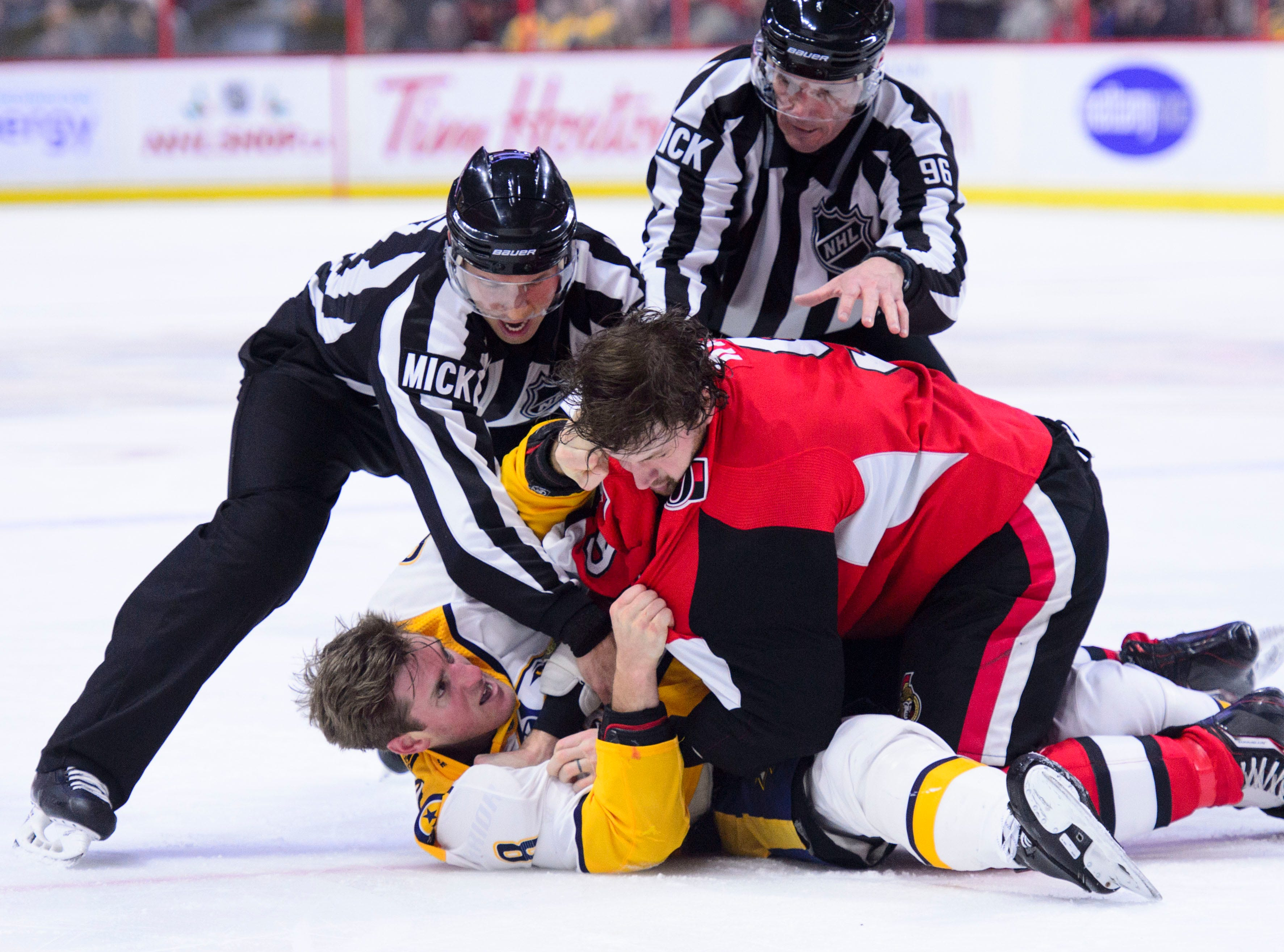 Dec. 17: Ottawa Senators' Bobby Ryan vs. Nashville Predators' Kyle Turris.