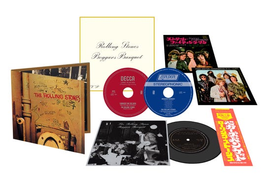 """This 50th anniversary limited edition of """"Beggars Banquet"""" is on a hybrid CD-Super Audio CD for higher-res stereo."""