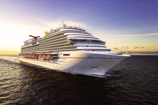 A digital rendering of Carnival Panorama, a Carnival Cruise Line ship scheduled to debut in late 2019.