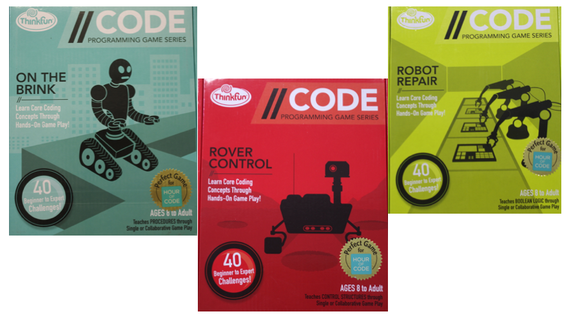 On The Brink, Rover Control, and Robot Repair are three //CODE board games that help teach kids how to code.